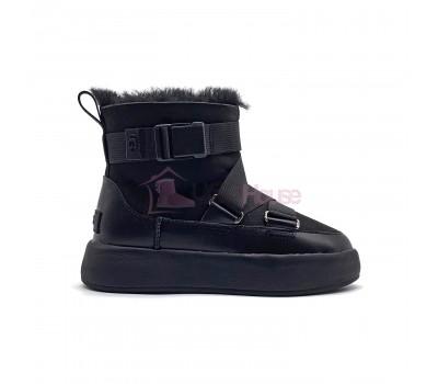 UGG Classic Boom Buckle Boot Black Snowball