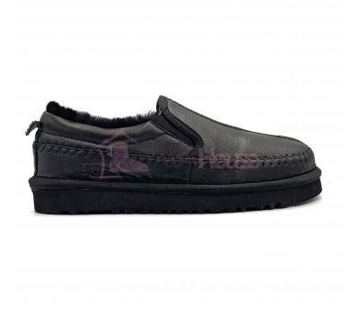 UGG Stitch Slip On Metallic Black черные обливные