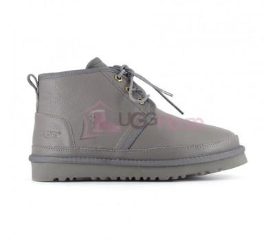 Ботинки UGG Neumel Серые Кожаные женские на шнурках