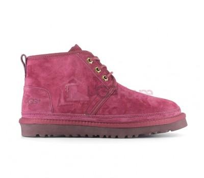 Ботинки UGG Neumel Бордовые женские на шнурках