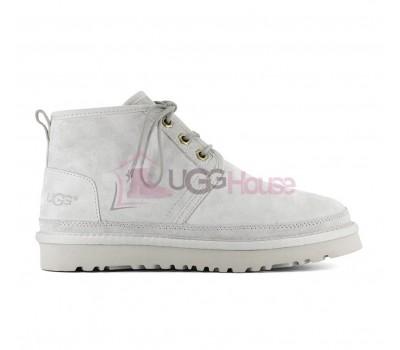 Ботинки UGG Neumel Светло-Серые женские на шнурках