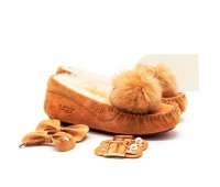 UGG Moccasins Dakota New Pom Chestnut