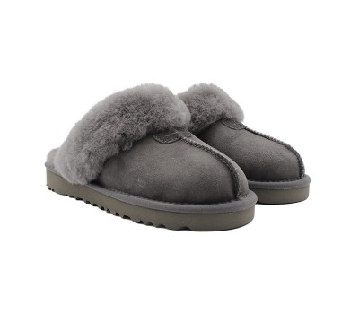 UGG Slippers Scufette Grey Серые тапочки угги на меху угги Австралия.