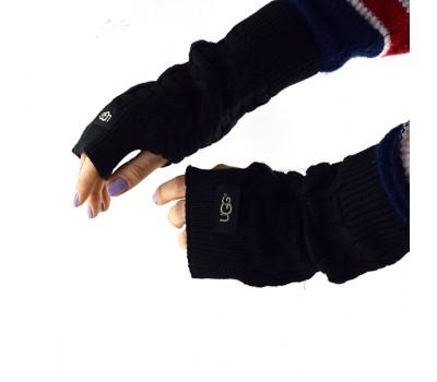 Перчатки-митенки UGG Knit Mitten Black Черные вязаные
