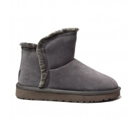 UGG Womens Classic Mini Fluff High Low - Grey