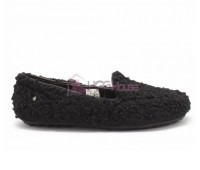 UGG Womens Hailey Fluff Loafer Black