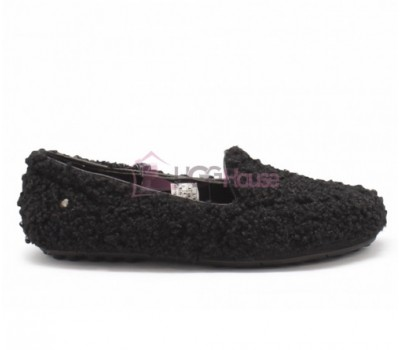 Мокасины UGG Womens Hailey Fluff Loafer Black