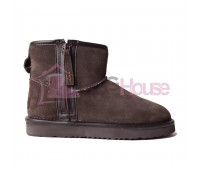 UGG Mini Zip Boot Chocolate