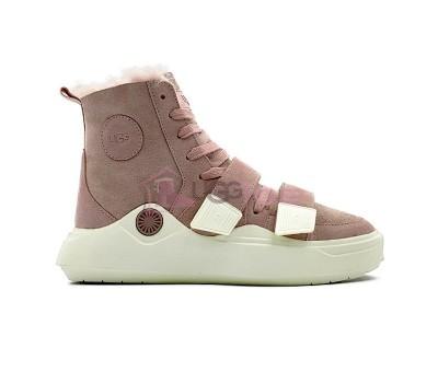 Кроссовки угги UGG Sneakers Sioux Trainer - Pink розовые женские зимние