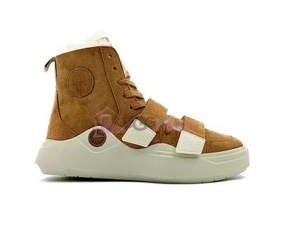 Кроссовки угги UGG Sneakers Sioux Trainer - Chestnut Рыжие женские зимние