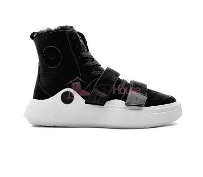 Кроссовки угги UGG Sneakers Sioux Trainer - Black Черные женские зимние