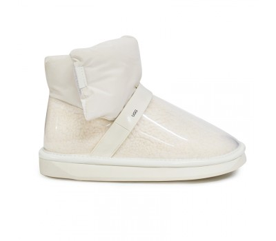 Непромокаемые UGG Clear Quilty Boots - White Белые угги