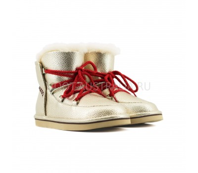Женские Ботинки UGG Lodge Mini - Золотые.
