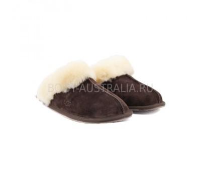 Меховые домашние тапочки SCUFFETTE II - Шоколад