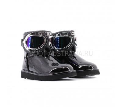 UGG & Jimmy Choo Motor Glasses Black Угги лаковые черные от Джимми чу